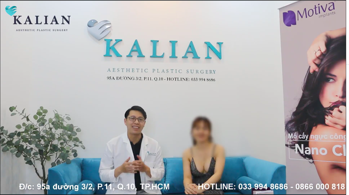 Cận cảnh quá trình nâng ngực nội soi tại trung tâm thẩm mỹ Kalian